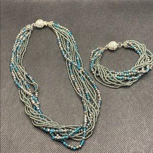 Gorgeous beaded bracelet/necklace magnetic clasp